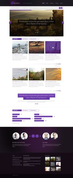 Business Themed Website Template