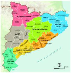 Esta és  Catalunya que fica pobles de comarques