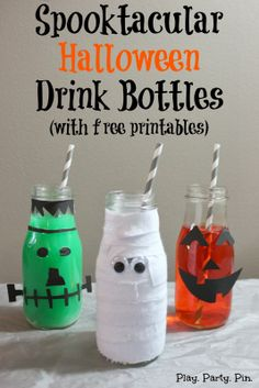 use for starbucks jars | ... couldn't stop and ended up with an entire family of Halloween bottles