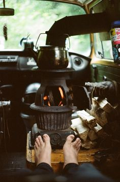 """embarkmants:  """" Nothing beats drying out in front of the wood stove after a cold surf session  """""""