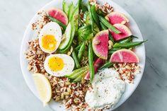 Martha Stewart's Green Goddess Veggie Grain Bowl - The Dr. Oz Show Vegan Vegetarian, Vegetarian Recipes, Breakfast In A Jar, Lemon Green Beans, Green Goddess Dressing, Cooking Green Beans, Grain Bowl, Bean Burger, Latest Recipe