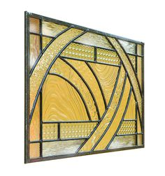 """Artist: Karin Wilkerson - """"Glass in Motion: 1794wx1916h 300dpi 882 KB Stained glass panel built in lead using all clear different texture glass"""" #artsintheheart #stainedglass #glassart"""