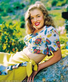 A brunette Norma Jeane in 1946, the year she changed her name to Marilyn Monroe
