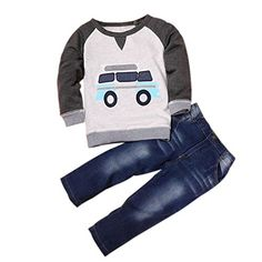 DaySeventh Toddler Boys Outfit Clothes Car Print T-shirt ...