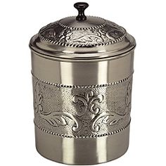 @Overstock - Handcrafted by skilled artisans, this Old Dutch Antique Embossed Victoria Cookie Jar features beautiful chaised motif. This cookie jar showcases a durable stainless steel construction and a pewter finish.http://www.overstock.com/Home-Garden/Old-Dutch-Antique-Embossed-Victoria-Cookie-Jar/6619797/product.html?CID=214117 $42.99