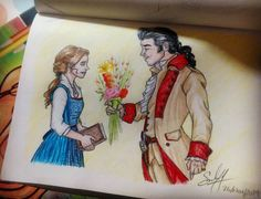 """Lucía SH on Instagram: """"It's finally done! Belle and Gaston from Beauty and the Beast (2017) #emmawatson @emmawatson #lukeevans @thereallukeevans…"""" • Instagram"""