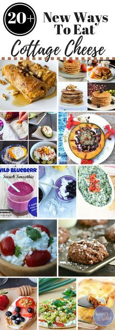 20 + New Ways to Eat Cottage Cheese - healthy breakfast, healthy lunch, healthy snacks and healthy dinner ideas all using cottage cheese! via @hungryhobby