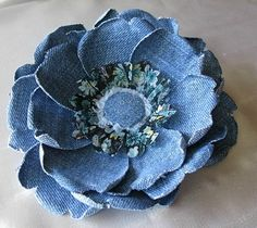 Great flower out of jeans!!