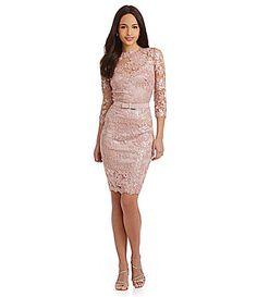 Tadashi Shoji Sequin Lace Cocktail Dress #Dillards   favorite