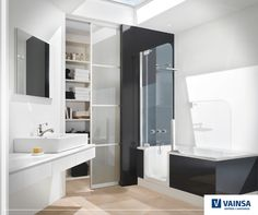 Artweger Twinline 2   Considering How Heavy Water Is, Glass Enclosed  Jacuzzis Make Quite Compelling Designs. The Artweger Twinline 2 Bathtub And  Shower ...