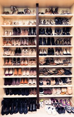 Cindy Crawford's shoe closet in The Coveteur.