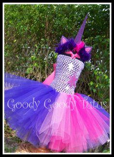 TWILIGHT DREAMS My Little Pony Unicorn Inspired Tutu Dress with Matching Headpiece