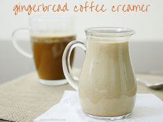 A tasty gingerbread spiced coffee creamer, perfect for your morning cup of coffee. This recipe is dairy-free and Paleo-friendly.
