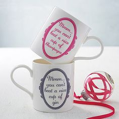 'you can't beat a nice cup of…' mug by catherine colebrook | notonthehighstreet.com