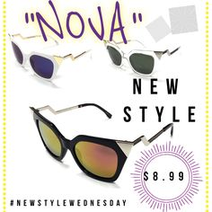 """Hello and good morning! Happy Wednesday and today here at @fjs_popshop is #newstylewednesday where we introduce a new style. Today we release """"NoVA"""" cat eye sunglasses for adults available now on our website at a discounted price! Yes who doesn't love a new style of sunglasses and at a discounted rate. So today only snatch a pair on our website at www.fjspopshop.com, click shop, scroll below and they will appear on the first page. #fjspopshopkids #fjs_popsho@"""