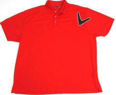 Men's Callaway Dri-Fit Golf Polo Shirt Big & Tall 4X Bright Orange #Callaw #Golf