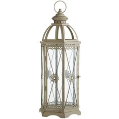 Jewel Hexagon Lantern - Grey Extra-Large