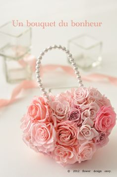 Preserved flower purse
