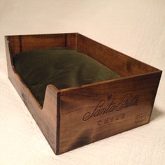 Wine Crate Pet Bed