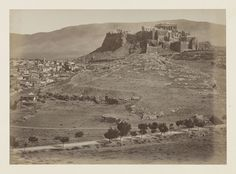 Vue générale de la ville d'Athènes, panorama, épreuve n°                     4/6 © Musée Guimet, Paris, Distr. Rmn / Image Guimet Old Photographs, Photos, City Ville, Art Asiatique, Urban City, Athens Greece, Paris, Monument Valley, The Neighbourhood