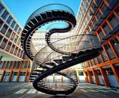 Endless stairs, Munich, Germany