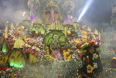 members of the samba school Rosas de Ouro Special Group at the Sambadrome