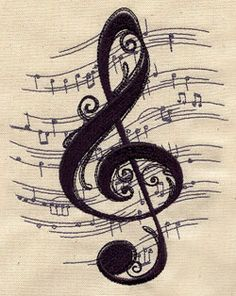 treble clef sheet music tattoo - Google Search