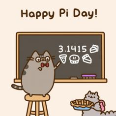 Happy Pi Day from Pusheen and Stormy Pusheen Stormy, Pusheen Love, Pusheen Stuff, 4 Panel Life, Happy Pi Day, Nyan Cat, Grumpy Cat, Cute Cartoon, Cute Drawings