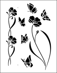 Butterflies stencil from The Stencil Library BUDGET STENCILS range. Buy stencils…