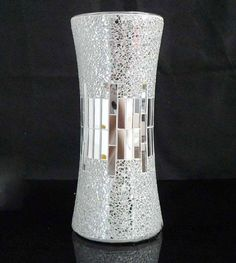 Mirror Flower Mosaic Glass Vases