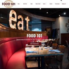 NIce blend  two Pace Academy grads on this project ! Chris Segal from 101 Concepts & I freshened up Food 101 years ago .