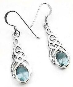 Sterling Silver Celtic Knot Blue Topaz Hook Earrings $19.97 http://www.azondealextreme.info/jewelry/earrings/sterling-silver-celtic-knot-blue-topaz-hook-earrings-19-97-these-sterling-silver-earrings-have-8x6mm-faceted-oval-synthetic-blue-topaz-stones/