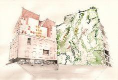 Drawings by Adelina Popescu, via Behance
