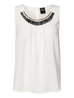 Party top from VERO MODA. Wear this white top with a pair of black jeans.