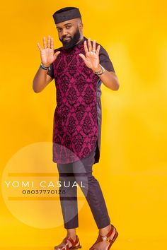 Yomi Casual Nabs Noble Igwe For Shades of Noble' African Wear Styles For Men, African Shirts For Men, African Dresses Men, African Clothing For Men, Latest African Fashion Dresses, African Print Fashion, African Attire, African Women, African Style