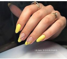 Must try Nageldesigns für kurze Nägel 2019 00113 – Frisuren schneiden … – Nägel ideen, You can collect images you discovered organize them, add your own ideas to your collections and share with other people. Chic Nails, Stylish Nails, Trendy Nails, Minimalist Nails, Yellow Nail Art, Yellow Nails Design, Pastel Yellow, Yellow Black, Short Nails Art