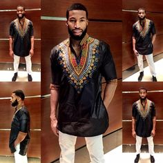 Maison Bohemique Men's Three-quarter-sleeve Long-line Shirt Dashiki Designs Sm-4x Tunic. Free shipping and guaranteed authenticity on Maison Bohemique Men's Three-quarter-sleeve Long-line Shirt Dashiki Designs Sm-4x TunicFrom day to night the ultra sexy Men's Three-Quart...