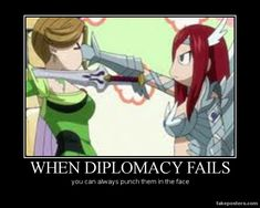 I remember this part. When Erza went to finish her off, I was think 'What awful attack would she use to punish the woman who hurt her friends!?' Then that happend XD