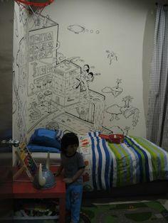 Vemale.com - Kalau Anda bisa menggambar, mungkin tak perlu membayar mahal untuk wallpaper di kamar. Seperti yang dilakukan pengguna Reddit ini.