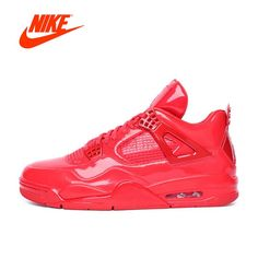 Original New Arrival Official Nike AIR JORDAN 4 AJ4 Breathable Women\u0027s  Basketball Shoes Sports Sneakers