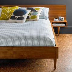 Orla Kiely House Tiny Stem Duck Egg Blue - Pillow Cases - Set of 2