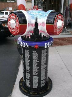 This appears to be a memorial hydrant, location unknown.