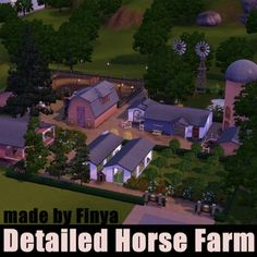 Detailed Horse Farm by FinyaVardeen - The Exchange - Community - The Sims 3