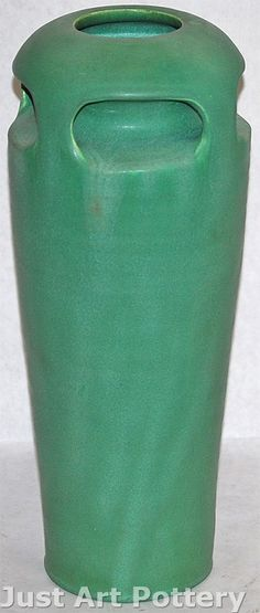 Ephraim Faience Pottery 1998 Large Teco Style Four Buttress Vase 807 from Just Art Pottery