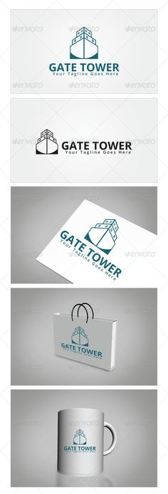 Gate Tower Logo Template — Photoshop PSD #real estate #home • Available here → https://graphicriver.net/item/gate-tower-logo-template/6569285?ref=pxcr
