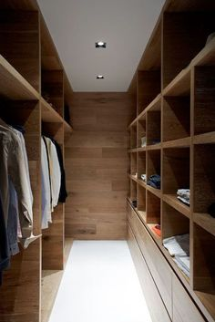 Smoked & Limed American Oak timber by Royal Oak Floors has been used by Robson Rak Architects in this beautiful walk in robe. I've got robe envy!