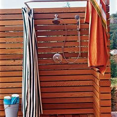 outside shower at pool