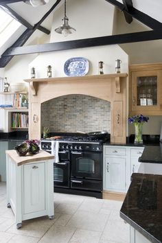Kitchen Ideas Duck Egg don't like the black range but this is similar to what our kitchen