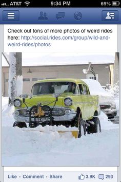 57 Chevy snow plow. Like it!