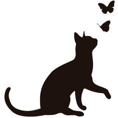 Cat Silhouette: All About Cat Silhouettes Cat Silhouette Tattoos, Animal Silhouette, Silhouette Art, Black Cat Silhouette, I Love Cats, Cute Cats, Silhouettes, Cat Template, Black Cat Tattoos
